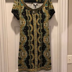 Patterned dress with sequins. Great Condition